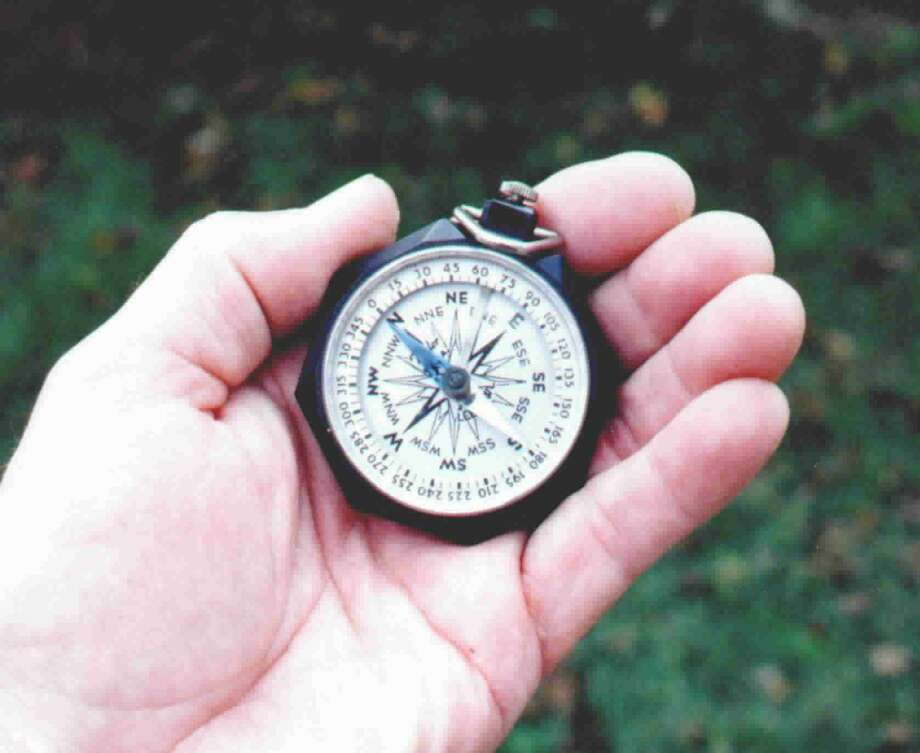 This old compass has been around my family for more than 50 years and will still point the way out of the woods. Photo: Larry J. LeBlanc