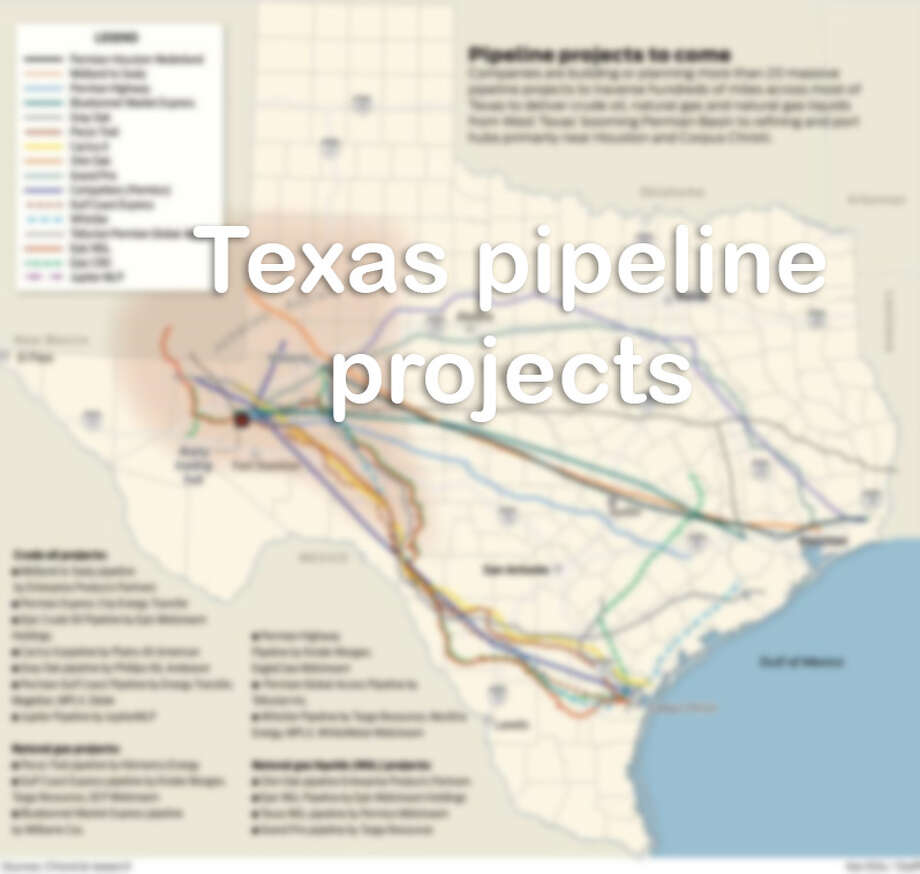 Here are pipeline projects planned or in progress in Texas. Photo: Ken Ellis / Houston Chronicle