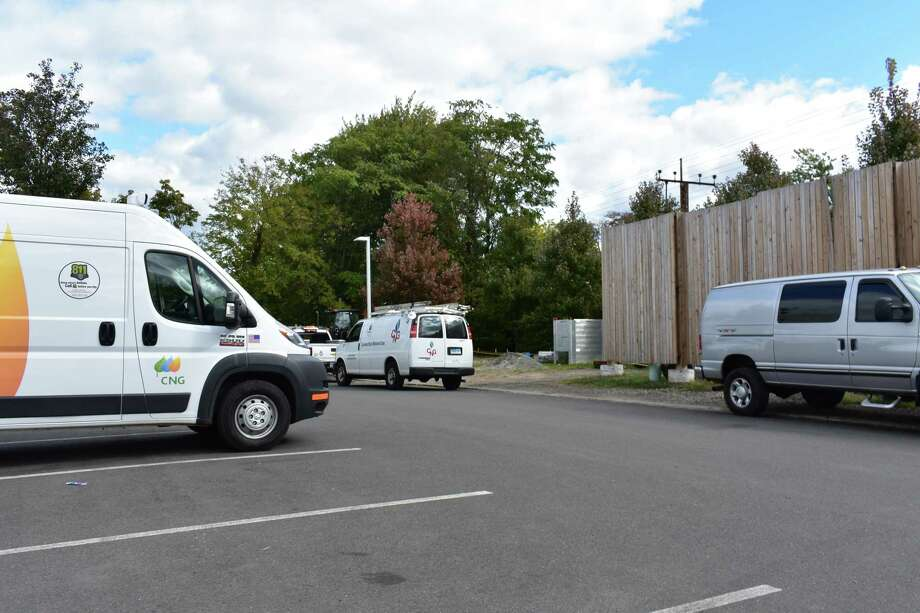 Service vehicles for Avangrid subsidiary Connecticut Natural Gas, in October 2018 in Greenwich, Conn. With oil prices down, home conversions to natural gas have slowed, with prices having spiked last winter during a cold snap. Photo: Alexander Soule / Hearst Connecticut Media / Stamford Advocate