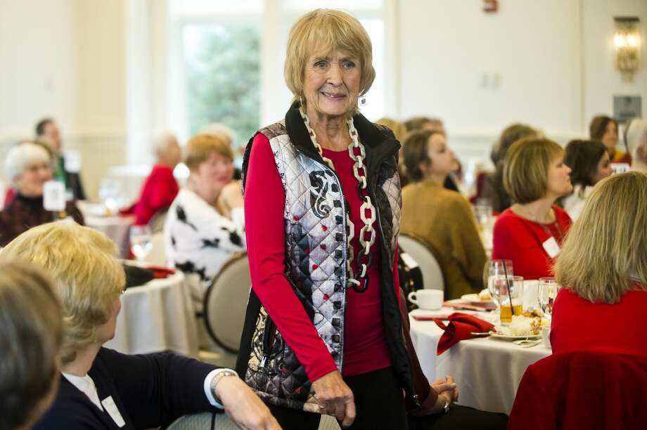 Joanie Neal models an outfit during Cancer Services of Midland's 27th Annual Holiday Luncheon & Style Show on Wednesday, Dec. 5, 2018 at the Midland Country Club. (Katy Kildee/kkildee@mdn.net) Photo: (Katy Kildee/kkildee@mdn.net)