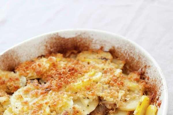 Yukon Gold potatoes shine in this gratin. (Joe KellerAmerica's Test Kitchen via AP)