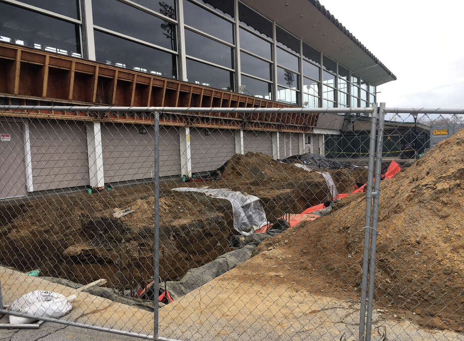 Construction work has begun for a new outdoor gaming terrace along the harness track at Saratoga Casino on Wednesday in Saratoga Springs, N.Y. (Courtesy/Saratoga Casino Hotel)