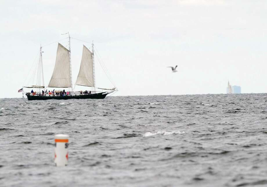 The SoundWaters Schooner plys the waters of Long Island Sound. Photo: Bob Luckey Jr. / Hearst Connecticut Media File Photo / Greenwich Time