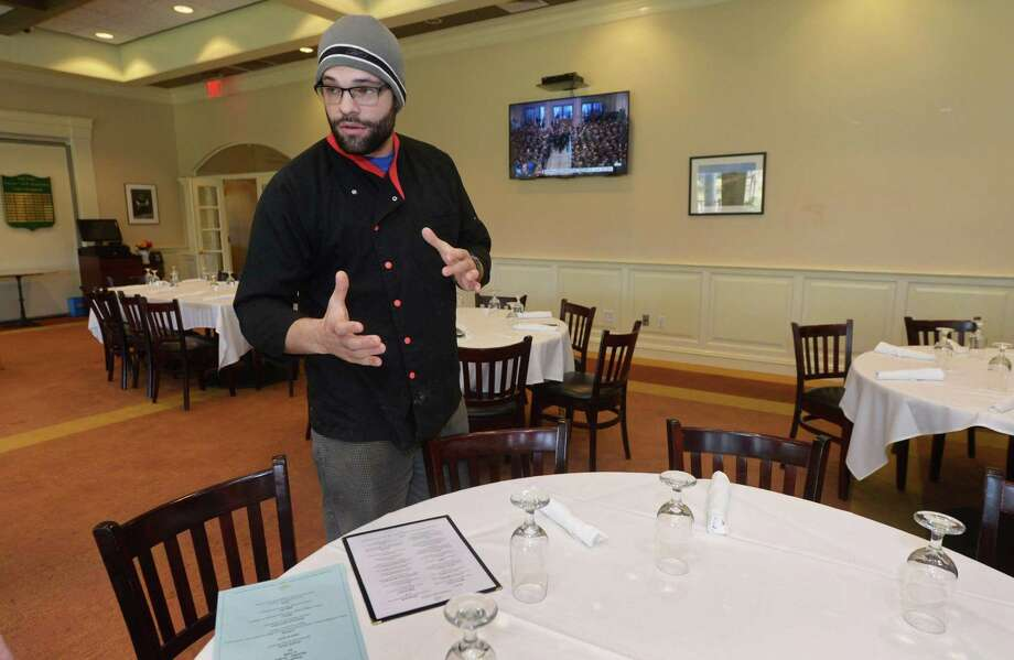 Executive Chef Tim Erway of Clubhouse Grille Wednesday, December 5, 2018, at the restaurant at Oak Hill Park in Norwalk, Conn. Norwalk Mayor Harry W. Rilling and other city officials met this week with representatives of the Oak Hills Park Authority regarding the latter's request for a new multi-year lease to manage the park, its restaurant and to have a sit-down bar as part of the renovations at the restaurant. Photo: Erik Trautmann / Hearst Connecticut Media / Norwalk Hour
