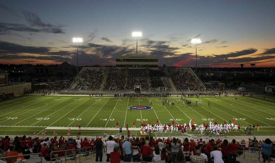 Conroe ISD's Woodforest Bank Stadium will be playing host to the Stagg Bowl next week, the Division III football national championship. Woodforest, which opened in 2008, seats around 10,000 fans. Photo: Yi-Chin Lee, Staff / Houston Chronicle / Internal