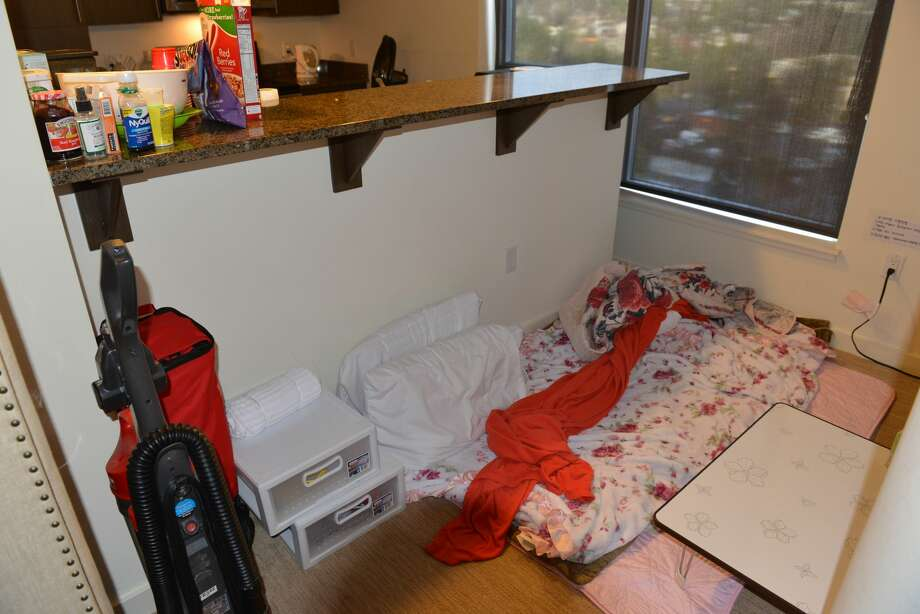 The King County Prosecuting Attorney's Office released photos this week depicting the living conditions and evidence of sex work at the luxury Bellevue apartments where johns operated brothels and promoted sex work online until a 2016 bust that netted 33 arrests. Photo: Courtesy Of King County Prosecuting Attorney