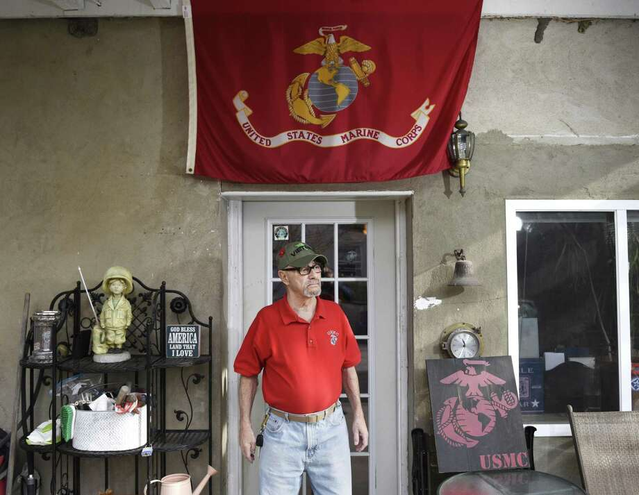 Vietnam veteran Jimmy Sparrow poses at his home in Stamford, Conn. Wednesday, Dec. 5, 2018. Sparrow, a Marine, was mentioned in a speech by President George H.W. Bush when he came to Stamford to stump for then-Governor John Rowland in October of 1990. Photo: Tyler Sizemore / Hearst Connecticut Media / Greenwich Time