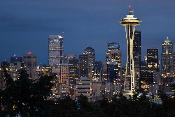 Seattle's Space Needle is centerpiece to the skyline view from Kerry Park on Queen Anne Hill. (Christopher Reynolds/Los Angeles Times/TNS)
