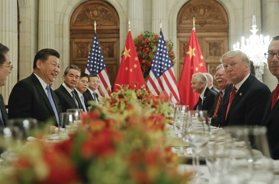 President Trump met with China President Xi Jinping (second from left) at the G20 Summit in Buenos Aires, but uncertainly lingers. Photo: Pablo Martinez Monsivais / Associated Press