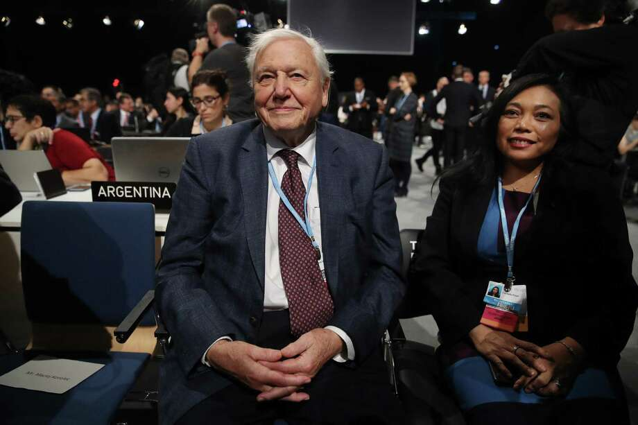 David Attenborough attends the opening ceremony of the COP 24 United Nations climate change conference on Monday in Katowice, Poland. The two -week conference is taking place in the wake of recent scientific reports that point to an even more dire situation of global warming and its consequences. Photo: Sean Gallup /Getty Images / 2018 Getty Images