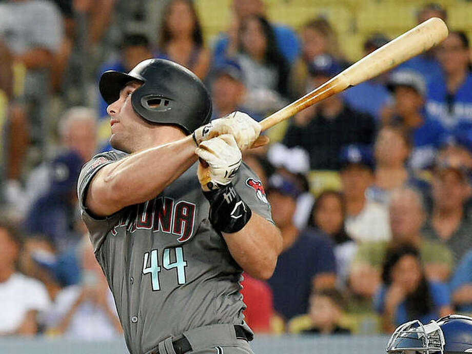 The Cardinals have acquired Paul Goldschmidt from the Arizona Diamondbacks in a multiplayer trade. The Cardinals sent pitcher Luke Weaver, catcher Carson Kelly, minor league infielder Andy Young and a 2019 draft pick to Arizona in the deal Wednesday. Goldschmidt is shown hitting a home run last season against the Dodgers in Los Angeles. Photo: AP Photo