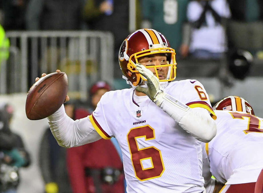 Washington Redskins quarterback Mark Sanchez will start his first game since 2015 on Sunday. Photo: Washington Post Photo By Jonathan Newton / The Washington Post