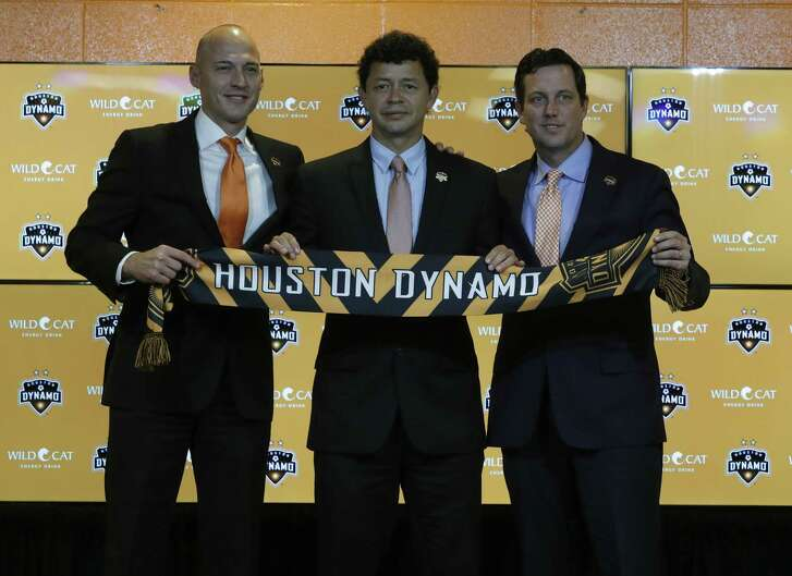 Dynamo vice president and general manager Matt Jordan, left.