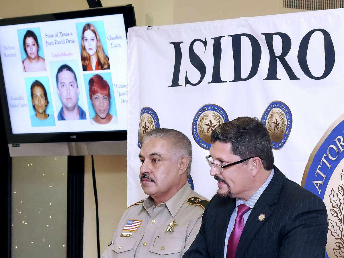 Webb County Sheriff Martin Cuellar and Webb County District Attorney Isidro R. Alaniz held a news conference Wednesday, Dec. 5, 2018 at the Justice Center to announce that a grand jury in the 341st District Court had indicted Border Patrol agent Juan David Ortiz on one count of capital murder, aggravated assault with a deadly weapon, unlawful restraint and evading arrest. Ortiz is accused of killing four women over a 12-day period in September.