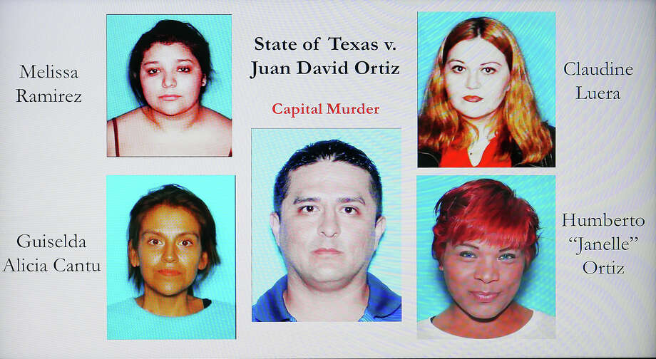 Authorities displayed this image during a news conference on Wednesday, Dec. 5, 2018 at the Webb County Justice Center, where the Webb County sheriff and district attorney announced that Border Patrol agent Juan David Ortiz had been indicted on a capital murder charge in connection with the slaying of four women over a 12-day period in September. Photo: Cuate Santos/Laredo Morning Times