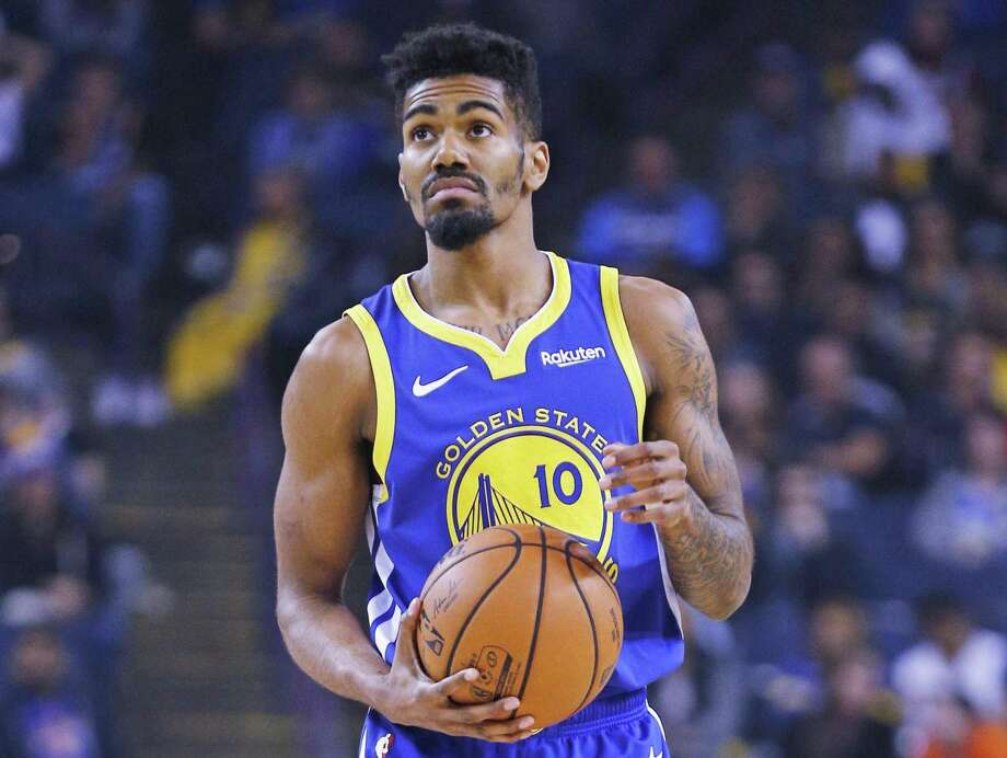 Golden State Warriors guard Jacob Evans (10) in the second half of an NBA game against the Brooklyn Nets at Oracle Arena on Saturday, Nov. 10, 2018, in Oakland, Calif. The Warriors won 116-100. Photo: Santiago Mejia / The Chronicle / ONLINE_YES