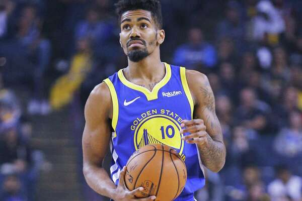 0ab53d8f10aa 1of5Golden State Warriors guard Jacob Evans (10) in the second half of an  NBA game against the Brooklyn Nets at Oracle Arena on Saturday