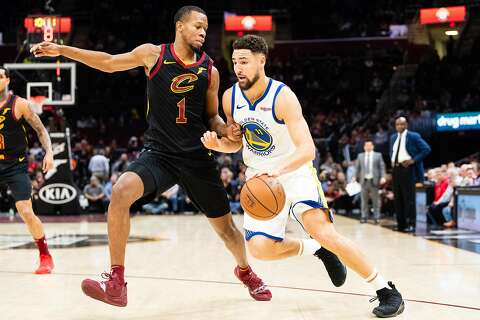 337a109aab7  p Rodney Hood  1 of the Cleveland Cavaliers guards Klay Thompson  11