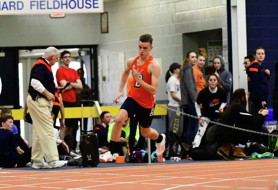 Albany Academies graduate Billy Melchionni, from Loudonville, for the indoor track team at Bucknell University. (Courtesy Bucknell University)
