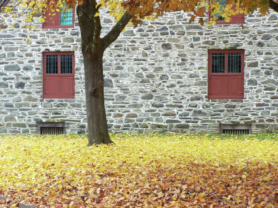 """Ken Ford of Rensselaer send in this photo from New Paltz from November. New Paltz has a small historic site with original stone houses built in the last 1600s, early 1700s. """"I saw this view on a gray afternoon just before the rain started and would like to share it,"""" he says."""