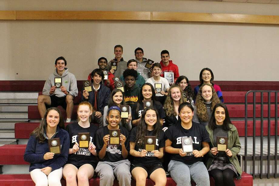 Local Wooster School athletes were recognized during an end-of-season event. Photo: Contributed Photo