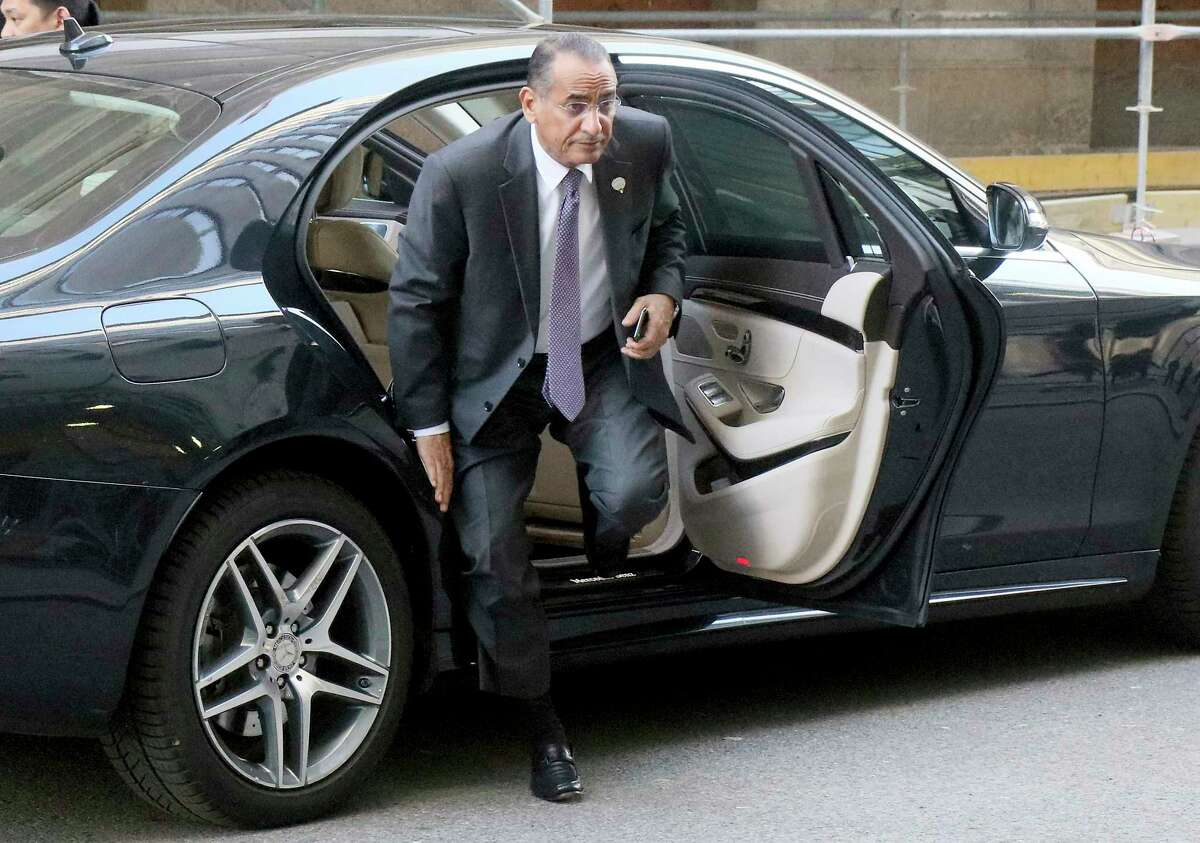 Bakheet S. Al-Rashidi Minister of Oil and Minister of Electricity & Water of Kuwait arrives for an informal meeting of oil ministers from the Organization of Petroleum Exporting Countries (OPEC) at the OPEC headquarters in Vienna, Austria, Wednesday, Dec.5, 2018.