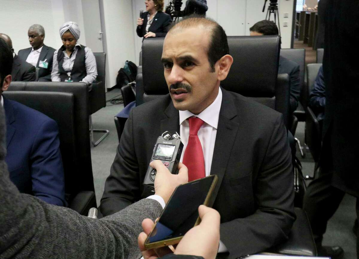 Saad Sherida Al-Kaabi Minister of State for Energy Affairs of Qatar speaks prior to the start of a meeting of the Organization of the Petroleum Exporting Countries, OPEC, at their headquarters in Vienna, Austria, Thursday, Dec. 6, 2018.