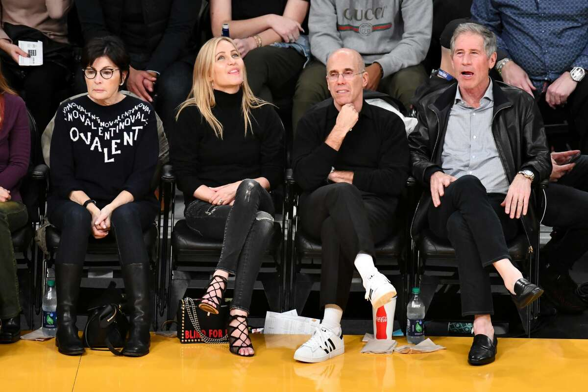 LOS ANGELES, CALIFORNIA - DECEMBER 05: Jeffrey Katzenberg attends a basketball game between the Los Angeles Lakers and the San Antonio Spurs at Staples Center on December 05, 2018 in Los Angeles, California. (Photo by Allen Berezovsky/Getty Images)