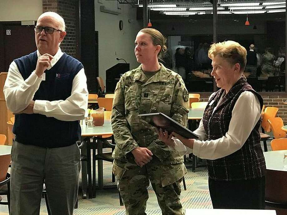 Mid Michigan College President Christine Hammond recently received the Patriot Award from the Employer Support of Guard and Reserve. (Photo provided)