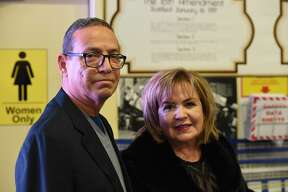Ruben and Vicky Cantu pose for a photo during the L&F Distributor 40th Anniversary.