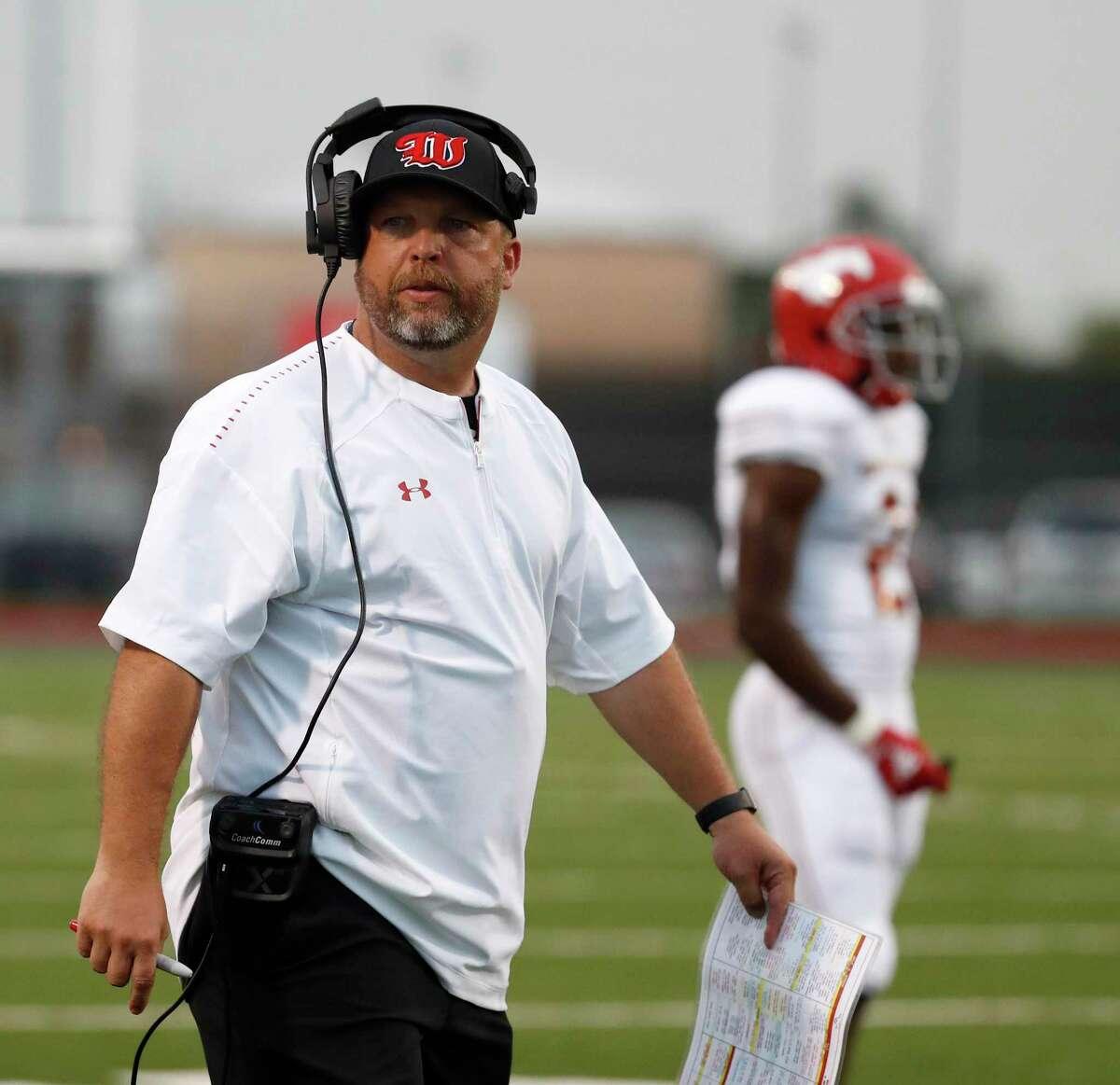 Westfield head football coach Matt Meekins.