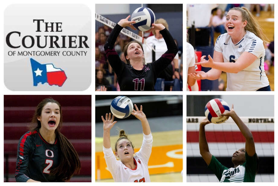 Faith Lynch (Magnolia), Annie Cooke (College Park), Kenzie Arent (Oak Ridge), Clara Brower (The Woodlands) and Destiny Brass (TWCA) are The Courier's nominees for Setter of the Year. Photo: Staff Photos