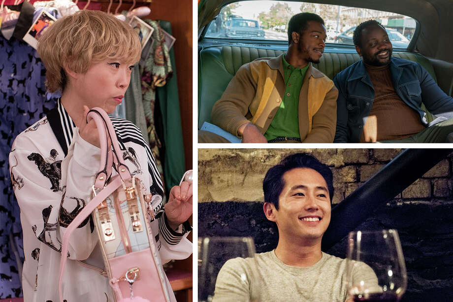 "Clockwise from left: Awkwafina in ""Crazy Rich Asians"" (Sanja Bucko, Warner Bros. Pictures); Stephan James and Brian Tyree Henry in ""If Beale Street Could Talk"" (Tatum Mangus, Annapurna Pictures); Steven Yeun in ""Burning"" (Well Go USA Entertainment) Photo: The Washington Post, Sanja Bucko, Warner Bros. Pictures; Tatum Mangus, Annapurna Pictures; Well Go USA Entertainment / Sanja Bucko, Warner Bros. Pictures; Tatum Mangus, Annapurna Pictures; Well Go USA Entertainment"
