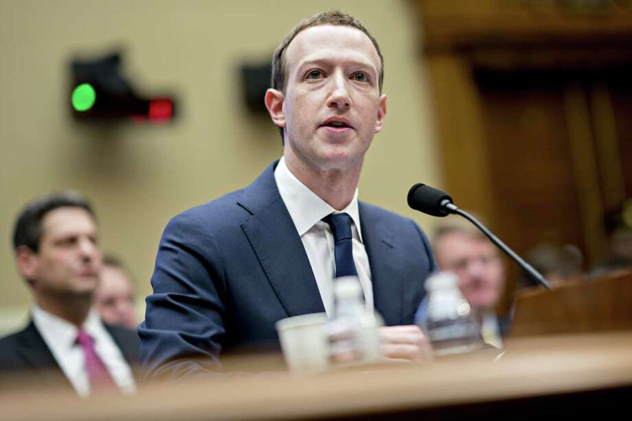 Facebook's Mark Zuckerberg speaks during a House hearing on April 11, 2018. Photo: Bloomberg Photo By Andrew Harrer / Bloomberg
