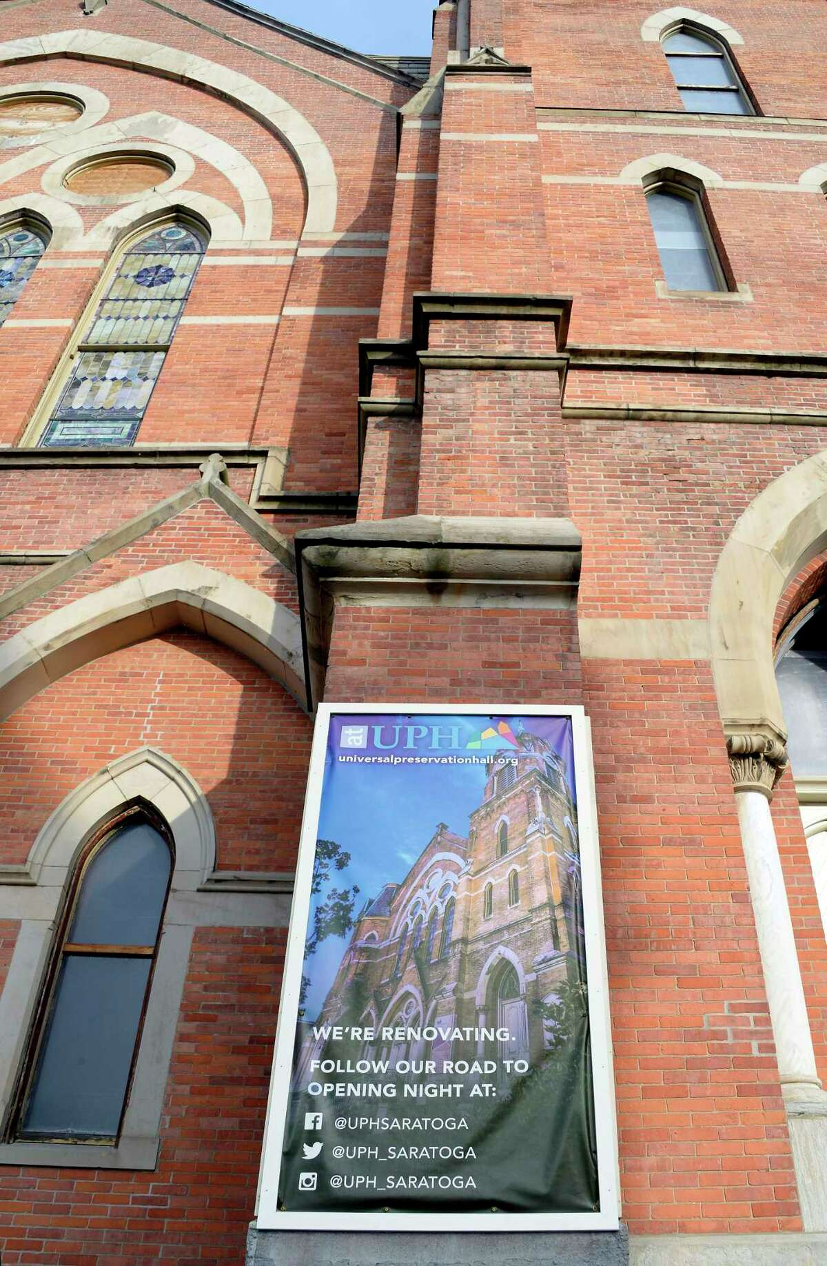 The public phase of the Universal Preservation Hall campaign is announced Thursday Dec. 6, 2018 in Saratoga Springs, NY. (John Carl D'Annibale/Times Union)