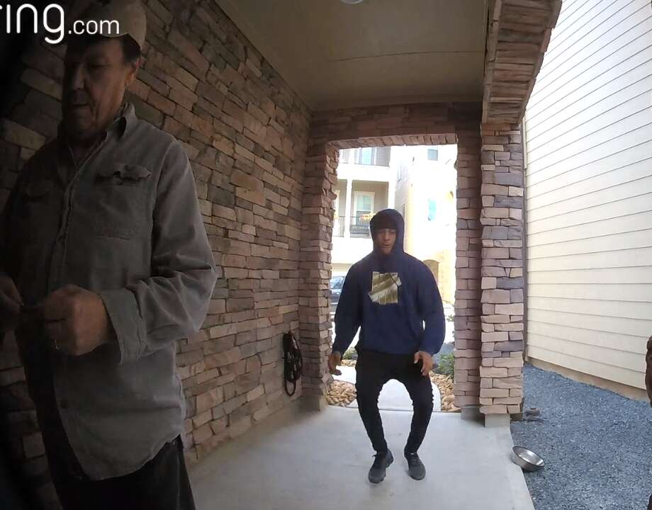 PHOTOS: Strange doorbell incidents that made headlines A man was filmed stealing an iPad Pro from a Houston resident's doorstep recently. The resident was right next to the package when it happened. 