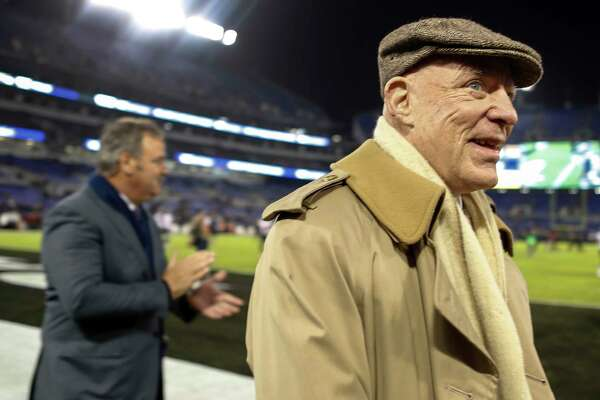 Houston Texans owner Bob McNair during warm ups before an NFL football game at M & T Bank Stadium on Monday, Nov. 27, 2017, in Baltimore. ( Brett Coomer / Houston Chronicle )