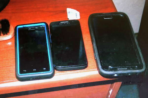 During Williams' trial for sex-trafficking, prosecutors showed the jury the tools he used to ply his trade, including multiple cell phones that were found at the time of his arrest in Killeen. (Bexar County court records)