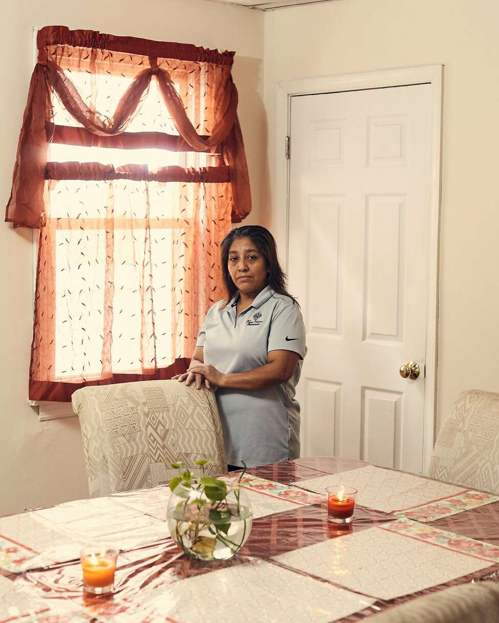 Victorina Morales at her home in Bound Brook, N.J., Nov. 2, 2018. At the president's New Jersey golf course, Morales, an undocumented immigrant, has worked as a maid since 2013. She said she never imagined she