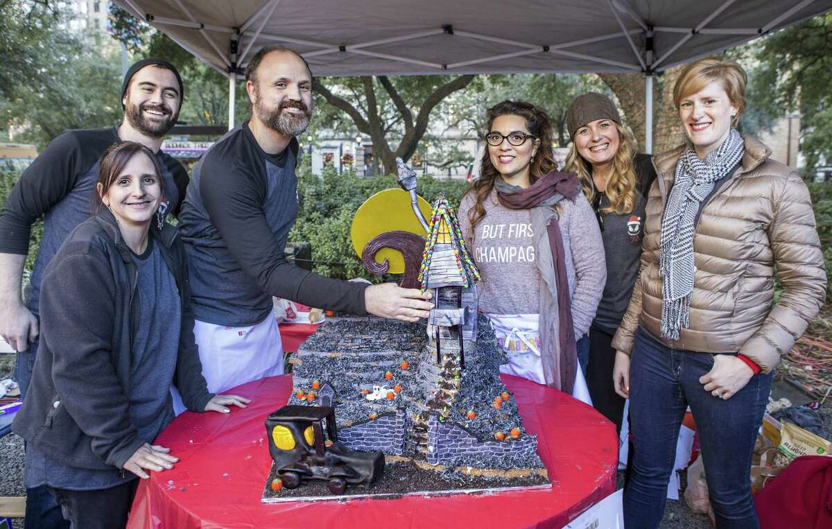 """Jackson & Ryan Architects' """"Nightmare Before Christmas"""" gingerbread house was the Grand Prix winner at the 2017 Architecture Center Houstons Gingerbread Build Off."""