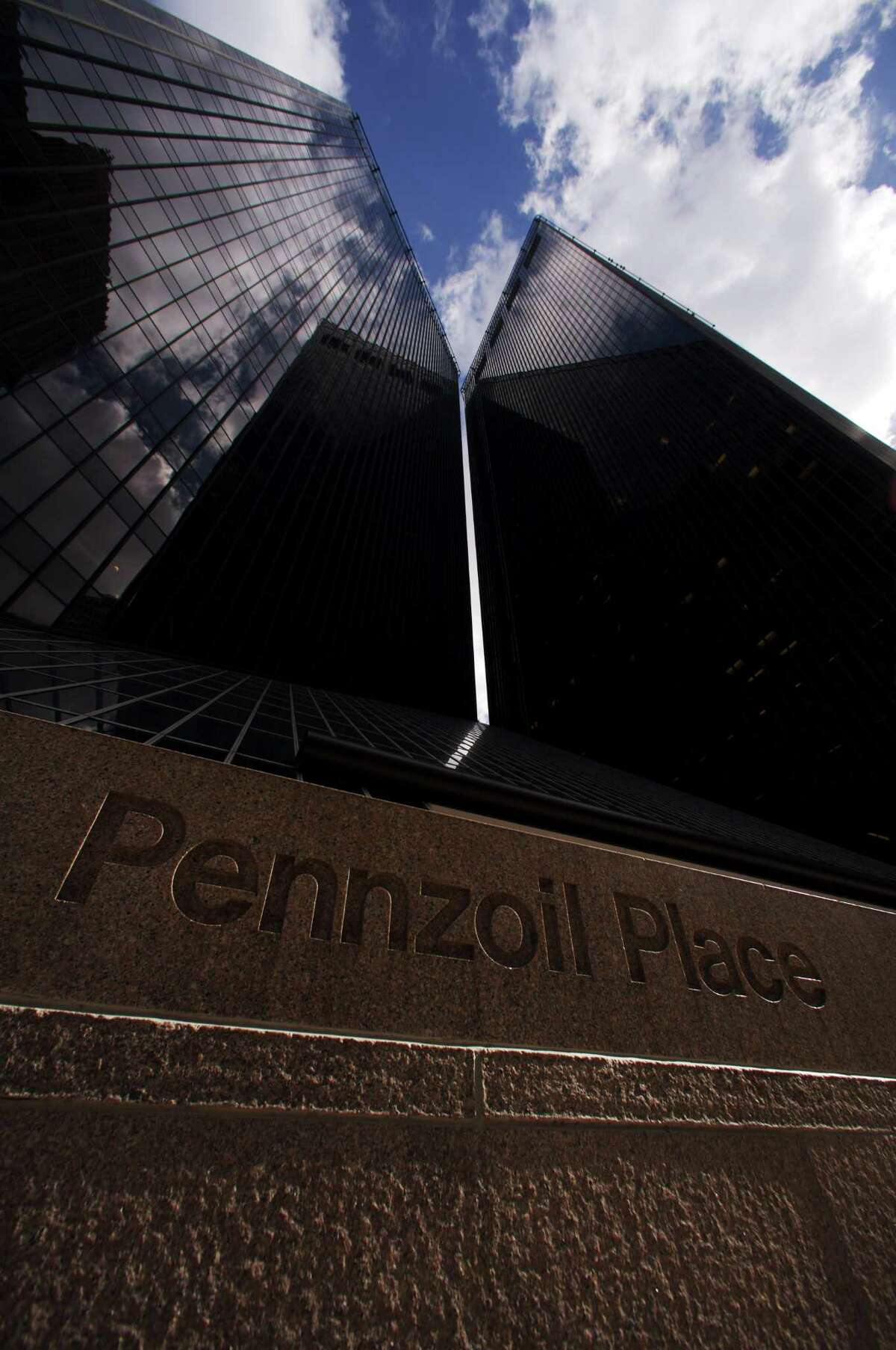 Pennzoil Place in downtown Houston