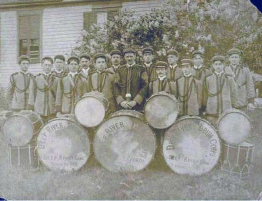 Deep River Drum Corps., circa 1900 Photo: Connecticut Historical Society
