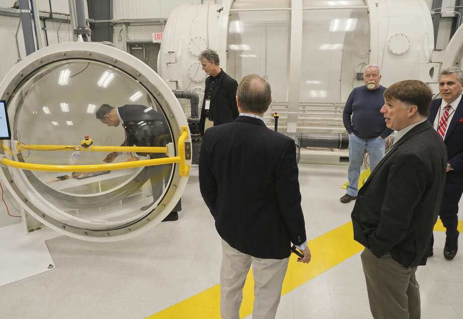 Midland sits in the center of a hub with six spaceports licensed by the Federal Aviation Administration, Oscar Garcia, chairman and chief executive officer of InterFlight Global Corp., told Midland Development Corp. board members at their monthly meeting on Monday. InterFlight has contracted with the MDC to help procure tenants for the Spaceport Business Park. Photo: Tim Fischer/Midland Reporter-Telegram
