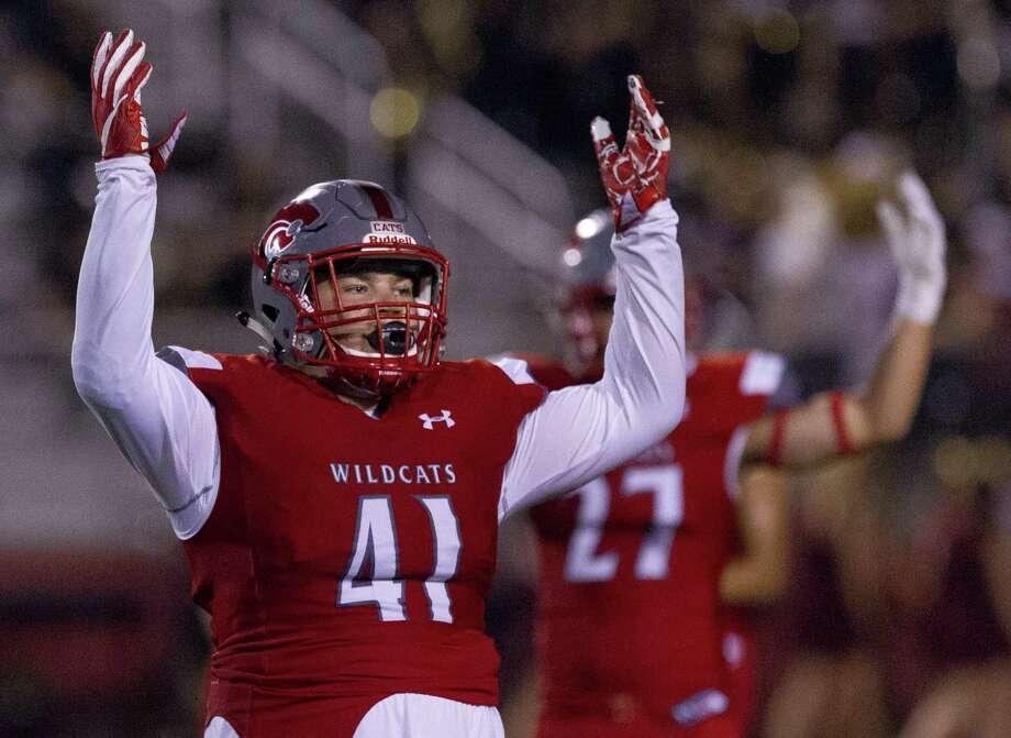 Splendora defensive linemen Kyle Weber (41) was unanimously named District 11-4A (Div. I)'s MVP. Photo: Jason Fochtman, Staff Photographer / Houston Chronicle / © 2017 Houston Chronicle