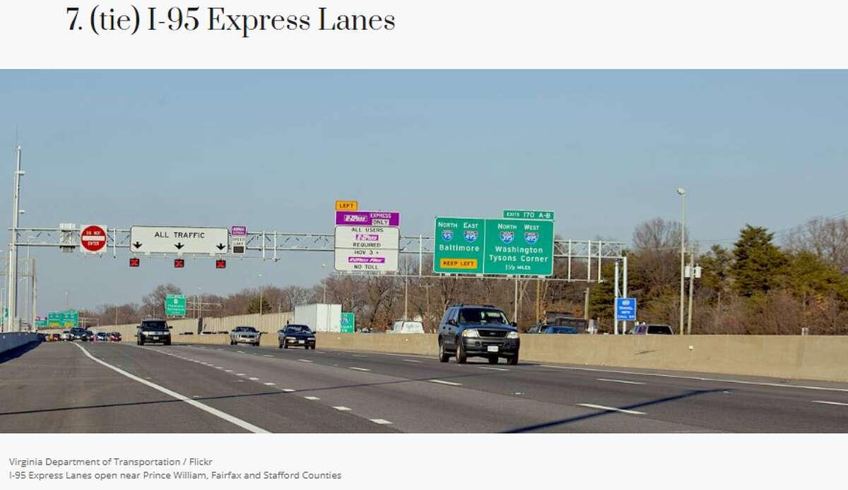 Location: Washington D.C.'s Virginia suburbs Maximum passenger vehicle fee: $3.45 Average toll per mile: $0.50