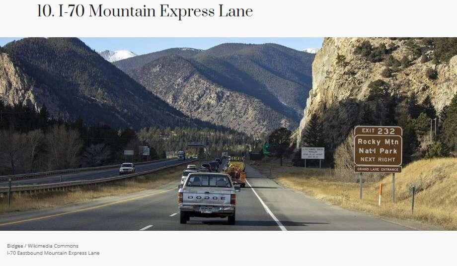 Location: Colorado, from Empire to Idaho Springs Maximum passenger vehicle fee: $5.46 Average toll per mile:$0.42 Photo: Moneywise.com
