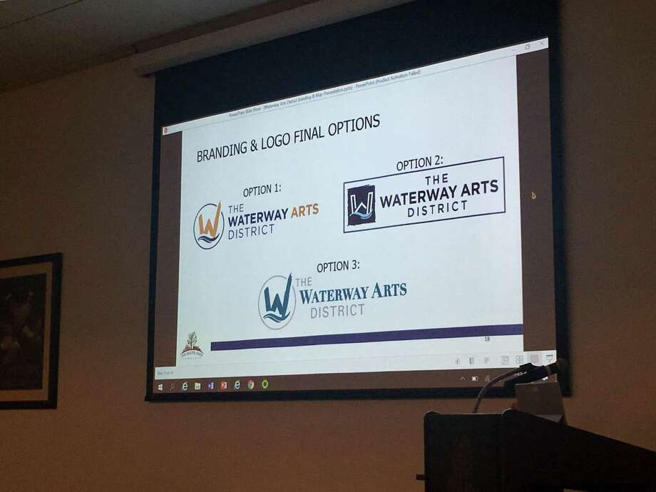 "At the township's Board of Directors at meetings Wednesday, township officials approved the creation of The Waterway Arts District as presented by the Economic Development Committee. The final logo is a combination of option one and option three, and has a ""W"" with a brushstroke, underscored by an image of water. The color scheme includes dark blue, matte gold, maroon, black and white."