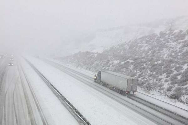 A cold winter storm brought low-elevation snow to Southern California, blanketing the Grapevine and temporarily closing I-5 on Dec. 6, 2018.