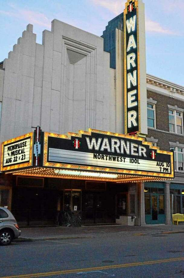 "The Warner Stage Company is holding auditions in January for its March show, ""Baskerville: A Sherlock Holmes Mystery."" Above, the theatre's marquee just before last summer's Northwest Idol singing competition. Photo: File Photo"