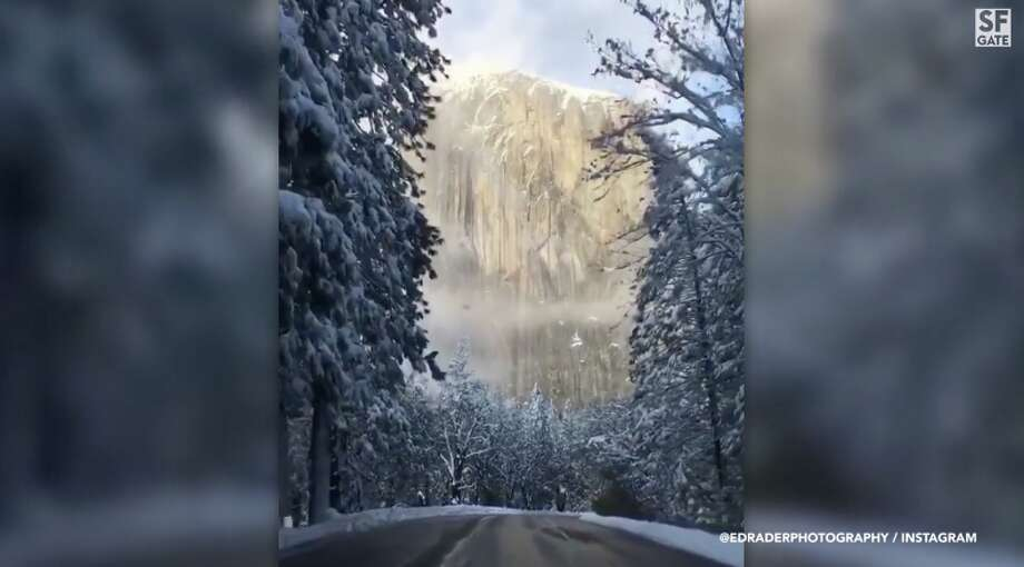 Viral video of Yosemite in winter looks as if you're in a snow globe